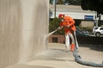 Sandblæsning af hus